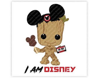 Disney, Groot, Guardians of the Galaxy, Mickey, Baby, Mouse, Ears, Tape, Digital, Download, TShirt, Cut File, SVG, Iron on, Transfer