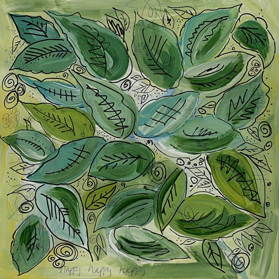 Painting - Leafy Greens