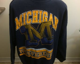 Vintage Michigan Wolverines crewneck sweatshirt size 2 xl