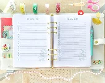 To Do List Half Letter Planner Half Size Inserts Filofax Printable Tasks Printable Refills Digital Instant Download