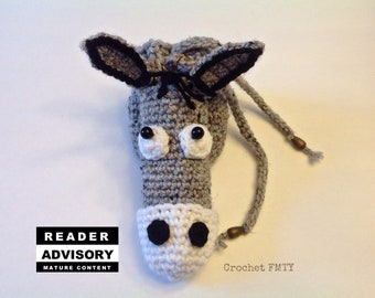 Donkey willy warmer, willie warmer, peter heater, Crochet, Unique gift