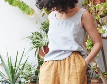 Linen wide leg YORK MAXI pants / Linen culottes / MAXI skirt -  pants available in 34 colors