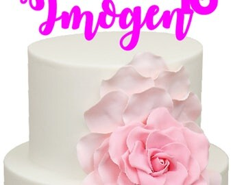 Personalised Name Age Birthday Acrylic Cake Topper
