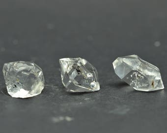 Enhydro Herkimer Diamond Quartz X 3 PIECES  - HD01