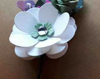 On, boutonniere, brooch, detail
