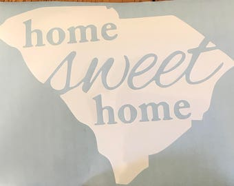 Home Sweet Home State Decal