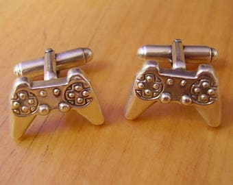 Games Console Controller Sterling Silver Cufflinks In Presentation Box