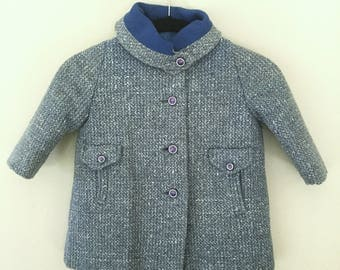 Darling 1950's Vintage Girls Wool Coat