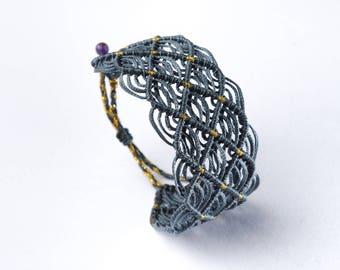 colorful macrame bracelet - lace bracelet - handmade boho bracelet - adjustable size