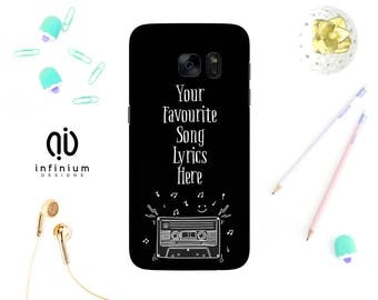 Custom Song Lyrics Case For Samsung S8, iPhone 8, 8 Plus, iPhone 7, iPhone 6S, Samsung S8 Plus, Samsung S7, S7 Edge, Samsung J3, & Note 8