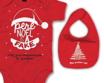 Bodysuit bib Pack Christmas special. Original baby box
