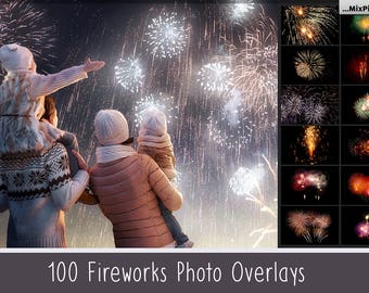 Realistic fireworks overlays, photoshop overlays, wedding fireworks, sky show, invitation background, party, fireworks photo, isolated