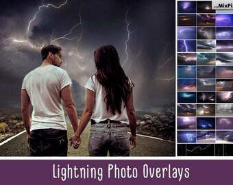 Lightning overlays, Storm, Dramatic, Thunderstorm, Stormy, Rain Clouds, Thunderbolt, Overlays, Photoshop, Lightning, Windstorm, Background