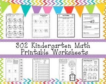 302 Kindergarten Math Worksheets Download. ZIP file. Preschool-KDG