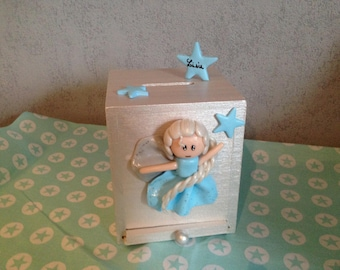 Personalized Princess piggy bank for girl