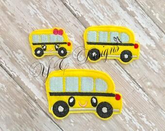 School Bus Feltie Kawaii 1 School Bus Feltie Earth Globe Nerdy Embroidery File