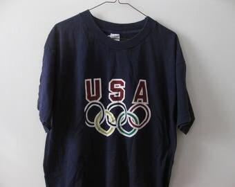 USA Olympics t-shirt shirt vintage Adult XL