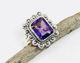 10% Amethyst Ring set in sterling silver 925. Size- 7. Genuine authentic amethyst stone. feburary birthstone.