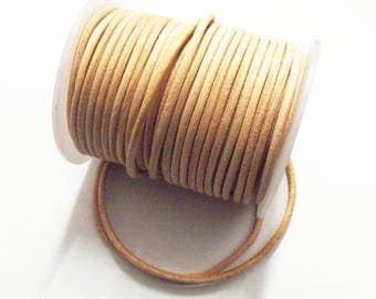 25cms cord / leather cord natural 3 mm