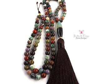108 Mala Beads – Mala Necklace – Prayer Beads – Yoga Jewelry - Meditation - Buddhist Prayer Beads
