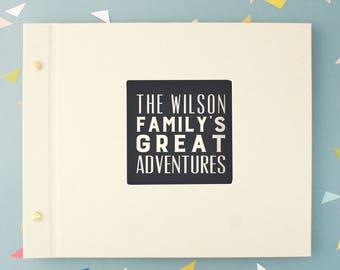 Personalised Family Typography Photo Album