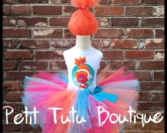 DJ Suki Troll Birthday Tutu Set size available 12m to 10/12y