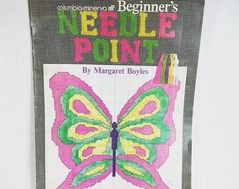 Vintage beginner needlepoint book