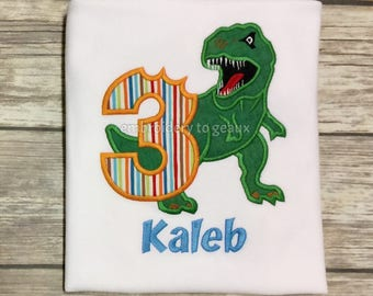 Dinosaur Birthday Shirt, Dinosaur Birthday Shirt Boy, Toddler Boy Birthday Shirt, Third Birthday Shirt Boy, TRex Birthday Shirt