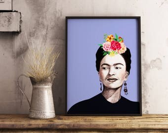 Printable Poster, Frida khalo,Digital Download, Art Prints Modern Prints , home decor, printable Art, Printable wall art, Instant Download