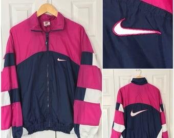 Nike Windbreaker Blue/Pink/White Small