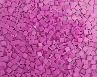 Resin mosaic tiles, 5x5 mm, Opaque effect, Sacket Pink