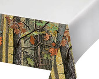 Hunting Camo Party Tablecloth/ hunting theme/ camo theme/