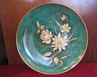 Alka-Kunst-Bavaria-Green and Gold Serving Plate