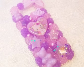 Kawaii Kitty Cat pastel rainbow decoden whipped cream cell phone case for Samsung Galaxy s8 PLUS s8+