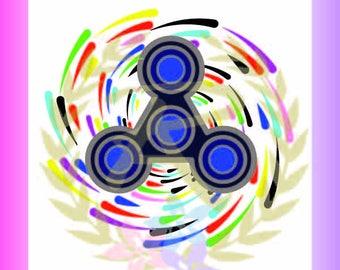 Fidget Spinner, Toy, Multi-Color