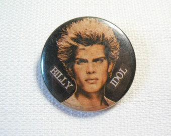 Vintage 80s Billy Idol - Pin / Button / Badge