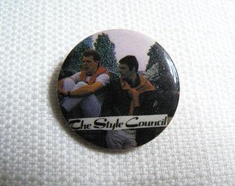 Vintage 80s The Style Council - Á Paris - Long Hot Summer Single (1983) - Pin / Button / Badge