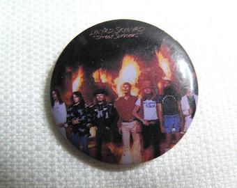 Vintage 80s (1983) Lynyrd Skynyrd - Street Survivors Album (1977) - Pin / Button / Badge