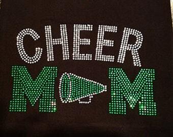 CHEER MOM Rhinestone T-Shirt