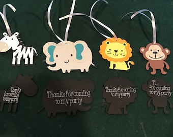 20 Jungle Birthday Party Favor Bag Tag