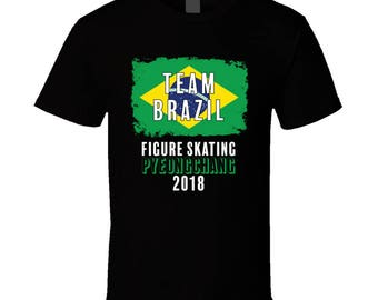 Team Brazil Figure Skating Pyeongchang 2018 Olympic T Shirt