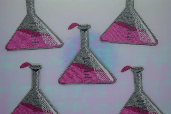 Chemistry Glass Iron on Patch