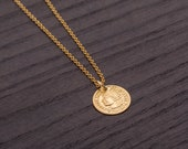 Gold coin necklace/Tiny coin necklace/Minimalist necklace/layering necklace/Coin Necklace