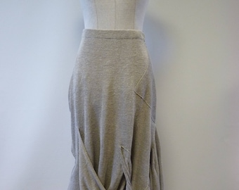 Special price, boho casual taupe linen skirt, M size. Made of pure linen.