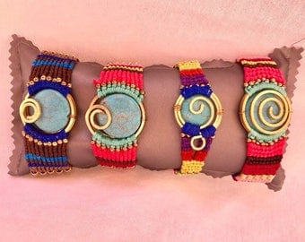 Macrame bracelets colors