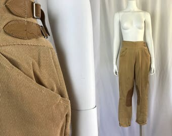RESERVED Medium ** 1950s TAN jodphurs ** vintage fifties riding pants