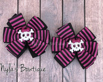 Halloween Pigtail Bows