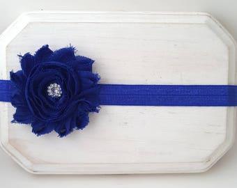 Royal Blue Headband, Blue Baby Headband, Royal Headband, Newborn Headband, Baby Girl Headband, Flower Girl Headband, Royal Baby Headband