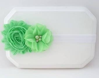 Mint Green Headband,Newborn Headband,Mint Green Hair Bow,Baby Girl Headband, Pastel Green Headband,Infant Headband,Easter Headband,Mint Bows