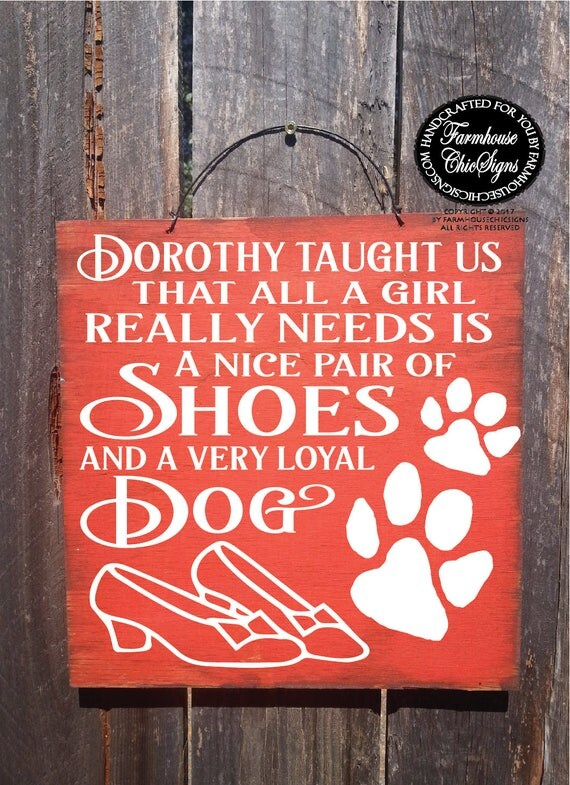 dorothy sign, wizard of oz decoration, Wizard of Oz, dorothy shoes sign, dog sign, dog decoration, funny gift, 342